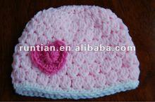 Girl's Cute Heart Hat Free Crochet Pattern