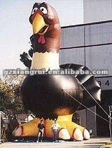 giant inflatable animal cartoon turkey