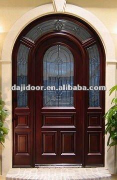 Arco de madera stained glass de dise o puertas dj s6012m for Arcos de madera para puertas