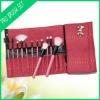 12 pcs wooden handle goats wool horse hair professional makeup Brush set