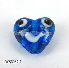 Fashion colorful cheap heart murano lampwork glass beads