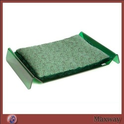 Green M-shape Floor Acrylic Lucite Pet Bed with Cushion