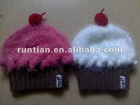 2012 New Fancy Knitting Fluffy Cupcake Hat