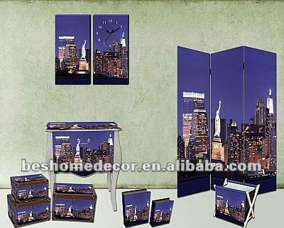new york notte scence economici camera da letto mobili set