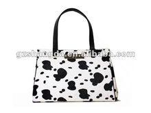 fashion ladies' cow /cattle handbag /shopping bags, brief case