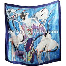 10% silk & 90% polyester digital printing scarf