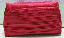 2012 high-end fashional designer red drape satin evening bag