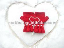 2012 Gorgeous Hand Knit Red Heart fingerless Glove Mittens