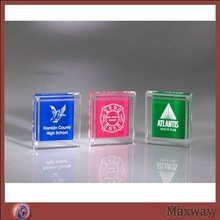 High transparent square corporate acrylic trophy/award