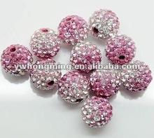 Promotion rate!!Wholesale DIY jewelry crystal rhinestones pave shamballa disco ball clay bead!
