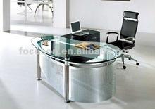 FKS-HD-ED022 Modern glass top office desk