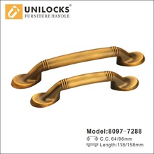 Decorative Cabinet Hardware Zinc Alloy Models Pull Handle 8097-7288