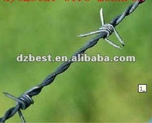 barbed wire post
