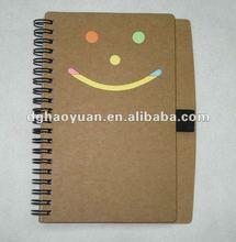 2012 Spiral bound kraft pen-buddy notepad