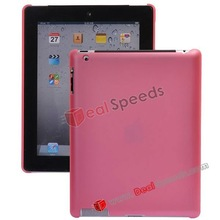 High Quality Plain Matte Plastic Case Cover for iPad 2(Pink)