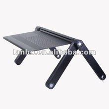 Adjustable Vented Portable Folding Aluminum Laptop Notebook PC Table Desk Tray