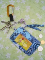 Cotton Lanyard And Cute Cotton Zip Up Id Case