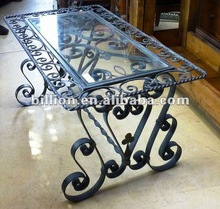 2012 china factory decorative iron table legs wrought iron table frame table base