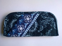 Z131 QUILTED COTTON folding eyeglasses case