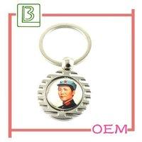 hot sale screw chaychain Mao Zedong with custom logo in Dongguan