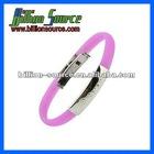 Wholesale diabetes silicone bracelets with laser engraving metal