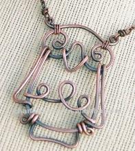 Oxidized. Copper. Wire. Owl. Necklace