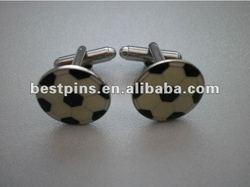 enamel custom football logo cuff links