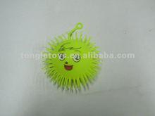 7inch flashing puffer ball with sheep face/sheep fluffy ball