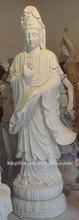 """74 """" statues indoues en pierre de marbre blanches de Hight Bouddha"""