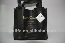 2012 High quality non woven 6 bottle wine tote bag