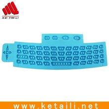 2012 newly designed silicone keypad