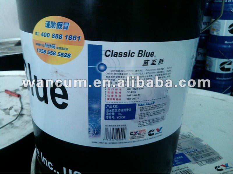 classic blue 18l 60506 cummins huile moteur pour les moteurs cummins