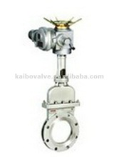 Electric inside disc knife gate valve