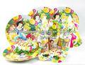 toptan masal prenses parti kiti çocuklar doğum günü partisi paketi 6 36 pc tabak bardak peçete şapka blowouts maskeleri