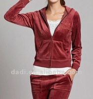 2012 velvet track suit for women