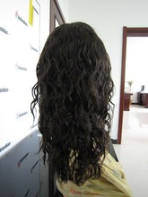 Malaysian curl texture of human hair lace front wig in stock list for wholesale
