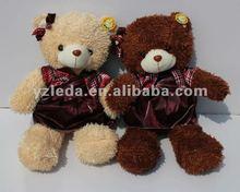 Two Color Plush Teddy Dress Bear