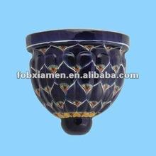 decorativi pavone muro di fiore di ceramica fioriere