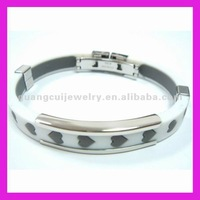 fashion stainless steel rubber bracelet magnet
