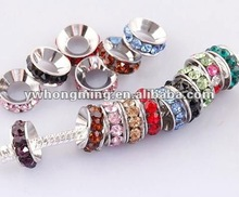 Various colors crystal rhinestone spacer,loose crystal spacer beads for basketball wives earring!