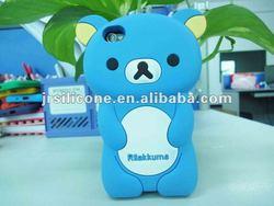 2012 Funny Cute multi-type silicone rilakkuma phone case for iphone4