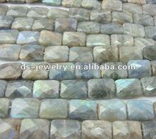 Faceted labradorite square sheet gemstone
