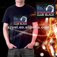 Equalizer earphone LED t-shirt for celebration