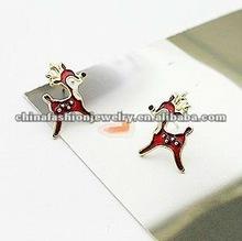 Cute Love Cartoon Red Deer Bambi Earrings For Girls