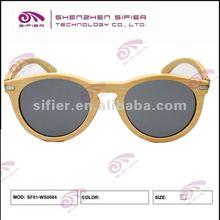 Super Retro Trendy Sunglasses Raw Bamboo Color