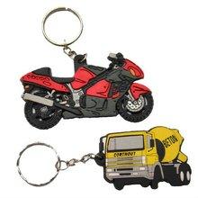 Promotional Custom Motorcycle and Car Shape Key Ring Lanyard BJO-K001