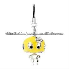 Cute Love Yellow Mushroom Metal Keychain 2012