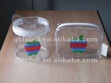 2012printed logo transparent kids PVC bag