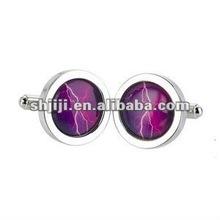 Attractive Purple Jade Men's Jewelry Cufflink