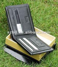 2012 fashion convenient men leather wallet/purse